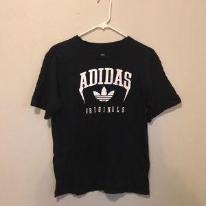 Vintage black Adidas logo tee